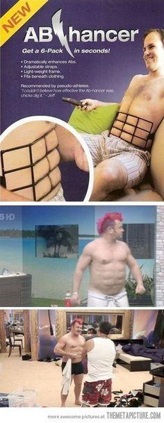 """Seeeeeeee... Por fin la solución para tener abdominales tipo """"Pechuga De Pavo Asada"""" ¡¡¡Que creativo CSM!!!"""