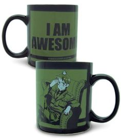"Are you awesome? Hetalia: Prussia ""I Am Awesome"" Mug $11.24 on RightStuf! #Hetalia #anime #FUNimation"
