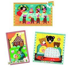 Puzzles de 16 à 35 pièces en bois : 3 puzzles : Les contes - Vilac-4622
