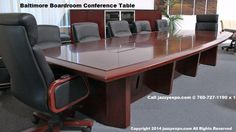 The Baltimore Boardroom Table side view Conference Table, Walnut Wood, Side View, Baltimore, Office Desk, Modern, Furniture, Home Decor, Desk Office