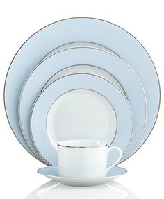Bernardaud Dinnerware, Dune Blue Limoges Collection  This would be perfect for Shabbat table and for any feast!  Love this blue!