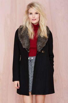 Florence Coat - Black | Shop Clothes at Nasty Gal!