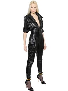 d39d0fb8a6c ALEXANDRE VAUTHIER - NAPPA LEATHER JUMPSUIT - LUISAVIAROMA - LUXURY  SHOPPING WORLDWIDE SHIPPING - FLORENCE Leather