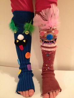 Monster socks for Crazy Sock Day