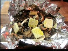 Portobello Mushroom Foil Packet for the Grill - Nummy Nummy!!   1 lb Portobello Mushrooms Sliced or Whole (or mushrooms of choice) 5 Pats Butter Ground Garlic Salt  Parsley (can use fresh garlic and some salt) Place all in a piece of foil and fold up edges  toss to coat Place on grill and cook to desired tenderness Can be done in the oven at 375 for 10-15 minutes Enjoy!  ✿´¯`*•.¸¸✿ Be Sure to SHARE, this awesome post ,  ✿´¯`*•.¸¸✿ ★FRIEND ME /FOLLOW me on Facebook, I am always posting ...