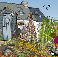 Mig Wyeth 1 31 15 The Gardener   Greeting Cards and Stationery