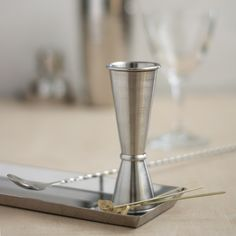 This double jigger is made from stainless steel, in the classic Japanese design, labeled on the outside, and has a rolled rim for easy pouring. Japanese Design, Japanese Style, Bar Tools, Mixed Drinks, Bartender, Liquor, Barware, Cocktails, Alcohol