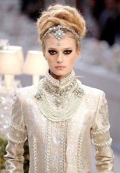 Sigrid Agren for Chanel. She looks immaculate, like an empress! :))