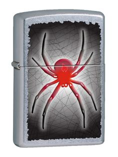 Spider design on 207 Street Chrome Zippo lighter available at Zippo Italy!