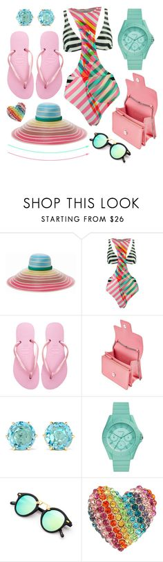 """""""Untitled #9081"""" by cherieaustin on Polyvore featuring Missoni Mare, Salinas, Havaianas, Alexander McQueen, Ippolita, FOSSIL and Betsey Johnson"""