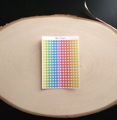 Circle stickers Rainbow colored reminder dots  by TapiosDaughter