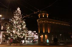 Biel-Bienne by winter night