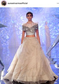 Lite and trendy Indian Gowns Dresses, Indian Fashion Dresses, Indian Designer Outfits, Designer Dresses, Choli Designs, Lehenga Designs, Indian Wedding Outfits, Indian Outfits, Lehnga Dress