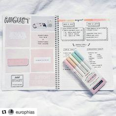 @europhias - pretty & prepared for the month . #Repost @europhias with @repostapp ・・・ new month  hello august! . #bulletjournal #bujojunkies #planneraddict #bulletjournaljunkies #planner #bulletjournaling #mildliner #bujo #goals #plannergirl #handwritten #lettered #handlettered #mildliners #diary #Zebra #stationeryaddict #plannernerd #notebook #monthly #journal #student #study #notebooks #journaling ##bulletjournalcollection #bjcmonthly