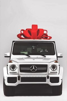 White Mercedes G Wagon AMG Wedding Transport To The Honeymoon