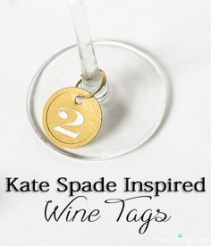 Making these Kate Spade inspired wine charms is even easier than you think!