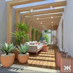 Side Yard Landscaping, Backyard Patio Designs, Modern Backyard, Outdoor Pergola, Outdoor Decor, Pergola Ideas, Design Exterior, Balcony Design, Landscape Design