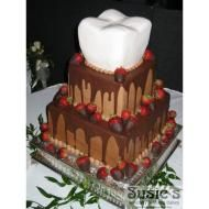 A dental wedding cake! This was a groom's cake, for a dentist. Tooth Cake, Gift Cake, Party Cakes, Amazing Cakes, Cake Decorating, Sweet Tooth, Wedding Cakes, Sweet Treats, Tasty