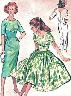 1950's Dress- I so want to make one to wear to ballroom comp. (the flowy one not the tight one)