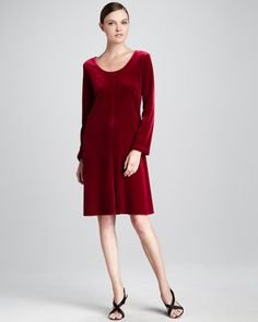Velvet-Stretch Dress, Women\'s by Caroline Rose at Neiman Marcus.
