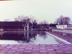 Newnham outdoor pool, Bedford. Long since gone.