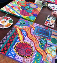 Gorgeous Abstract Art in Grade Seven | Art Lessons For Kids