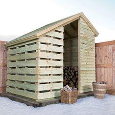 Timeless Timber Log Shed