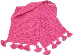 20+ Charities for Crochet Donations: Breast Cancer Awareness Free Crochet Scarf Pattern