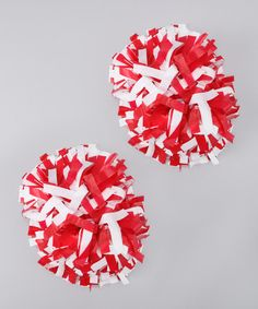Cheerleading is more than a sport—it's an attitude! And with this flashy pair of pom-poms in hand, that attitude can be shaken, twirled and thrown in the air. Includes two pom-pomsApprox. Cheer Pom Poms, Red And White, Invitations, Activities, Attitude, Kids, Cheerleading, Kendall, Sport