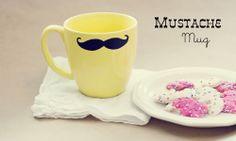 Mustache mug - 19 Great DIY Valentine's Day Gift Ideas for Him