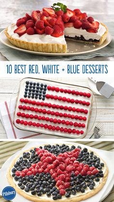 Go out with a bang! You'll be proud to serve these red, white, and blue pies, cookies and cakes.