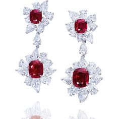 Superb Burmese Ruby Earrings. #ruby #Burmese #ring #Redcarpet #redcarpetearring #redcarpetjewelery #ChristiesJewels #jewellery #luxury #luxuryjewellery #jewellerryoftheday #nstajewellery #instaearring #instaruby #instalove #finejewellery #highjewellery #oscars #jewellerylover #earringlover #rubylover #rubygram #jewelleryaddict #shanghai #beijing #chinajewellery #Redcarpet #handmadejewellery #highendjewellery #instagram. Our beautiful Burmese Ruby & diamond earrings at Christie's auction…