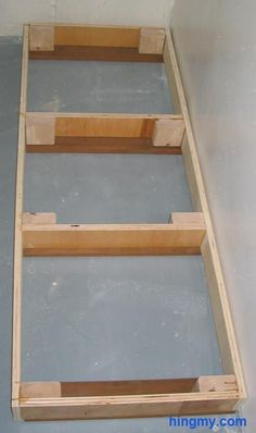 """Building Base Cabinets...toe kick should be 4"""" tall...build a frame out of 2X4 then use a plumb line to trim down the back and sides to account for patio slope?"""