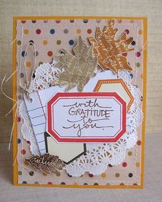 GORGEOUS card by Daniela Dobson. Made with the Celebrate Fall by Ali Edwards (Sept. Studio AE) stamp set from TechniqueTuesday.com.