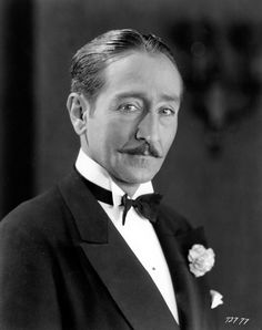 Adolphe MENJOU (1890-1963) * AFI Top Actor nominee > Active 1914–1961 > Born Adolphe Jean Menjou 18 Feb 1890 Pennsylvania > Died 29 Oct 1963 (aged 73) California, hepatitis > Spouses: Katherine Conn Tinsley (1920–27 div); Kathryn Carver (1928–34 div); Verree Teasdale (1934–63, his death) > Children 1 (adopted) Old Hollywood Movies, Hollywood Actor, Golden Age Of Hollywood, Vintage Hollywood, Hollywood Stars, Classic Hollywood, Silent Screen Stars, Silent Film Stars, Movie Stars