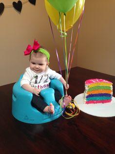 1 2 Birthday Six Layer Cake Half Baby Cakes 1st Boy