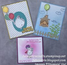 Valentines Balloons, Little Birdie, Stampin Up Catalog, Bird Cards, Funny Cards, Stamping Up, Stampin Up Cards, Cardmaking, Birthday Cards