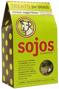 Sojos Dog Treats: Chicken Veggie (10 oz)