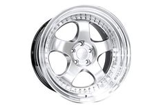 Varrstoen ES6 Wheels Hyper Silver Machined Lip 18x9.5 +35 5x100