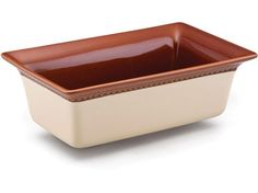 Paula Deen Southern Gathering Stoneware 9x5-in. Loaf Pan: Chestnut