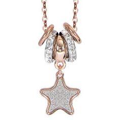 SPECIAL DAYS! Fino al 31 agosto -10% sui gioielli Boccadamo in vendita online sul nostro shop. APPROFITTANE SUBITO!  ☆☆☆ COLLANA STELLA GLITTER Boccadamo in bronzo rosa gold