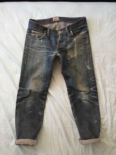 destroyed #rawdenim #selvedge #selvedgedenim ⓀⒾⓃⒼⓈⓉⓊⒹⒾⓄⓌⓄⓇⓀⓈ