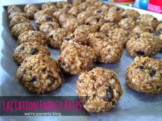 Lactation Energy Bites! Great for breastfeeding moms! 6 ingredients, 5 minutes, so simple!