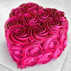 A mini heart shaped Valentines Day cake.