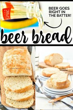 Beer bread recipe is super easy to make compared to any other bread recipe. You'll have people fooled thinking you've spent hours kneading dough to make this beer bread recipe from scratch. Cheesy Bread Recipe, Bread Recipes, Tasty, Yummy Food, Fun Food, Kneading Dough, Beer Bread, Yummy Appetizers, Appetizer Recipes