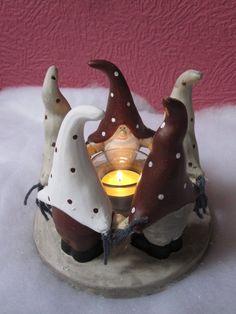 Teelichthalter Zwergenfreunde aus Keramik: Amazon.de: Küche & Haushalt