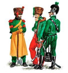 "Nassau and Oldenburg""   • Pioneer, 1st Infantry Regiment, 1809-13  • Officer, Reitende Jäger, 1810 (in Spain)  • Trooper, Reitende Jäger, parade dress, 1806"