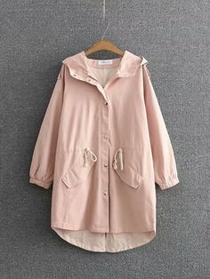 Amazing Casual Pure Color Hooded Trench Coats for Women on Newchic, here you can totally find a special and comfortable plus size outerwear to brighten you up! Plus Size Outerwear, Plus Size Coats, Hooded Trench Coat, Trench Coats, Women's Coats, Coats For Women, Clothes For Women, Girls Sweaters, Chic Outfits