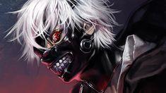 High Resolution Anime Mask Red Eye Ken Kaneki 2048x1152
