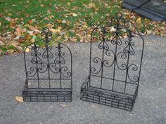 Wrought Iron trellis style planter boxes - 2 sizes available